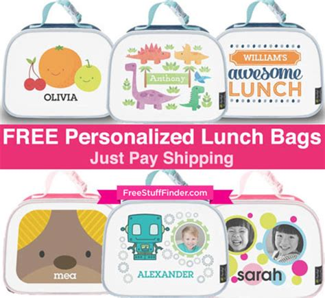 free personalized lunch bag (just pay shipping) today only!
