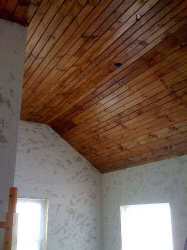 our bungalow wood plank ceilings