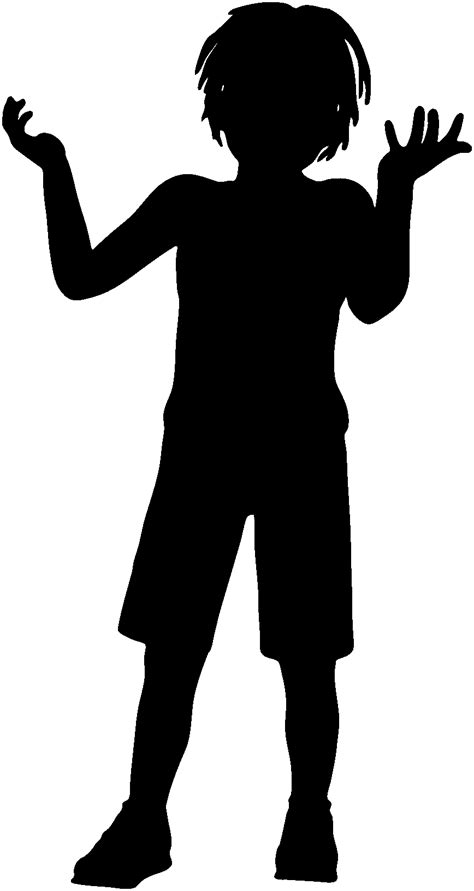 kids clipart silhouette   cliparts  images