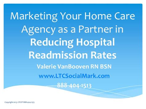 marketing home care reducing hospital readmission rates
