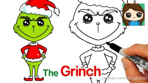 how to draw grinch youtube how to draw the grinch easy youtube