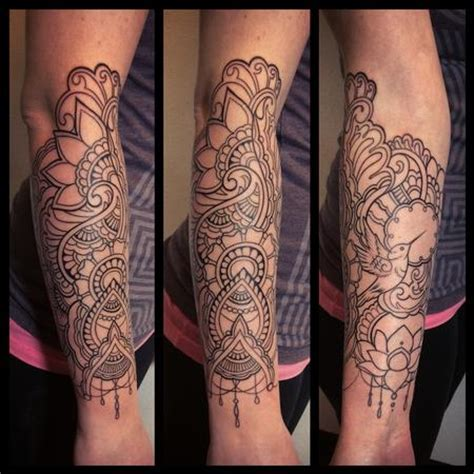 henna style line work tattoo by laura jade tattoos
