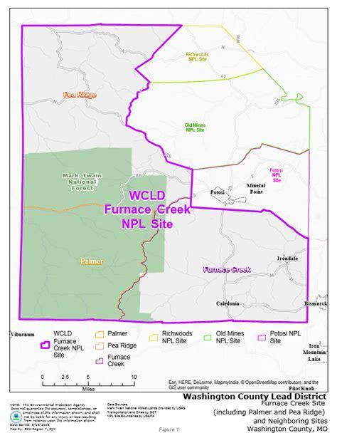 superfund site map washington county lead district furnace creek superfund