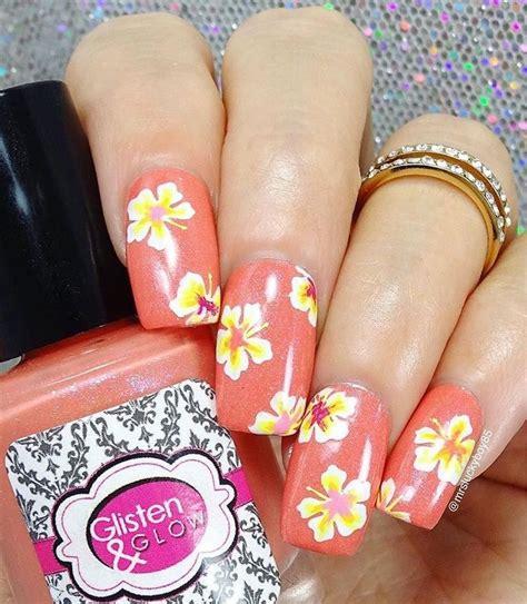 hawaiian nail art ideas  pinterest