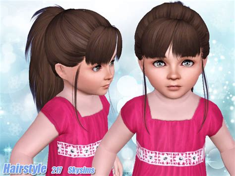 hair 217 by skysims sims 3 downloads cc caboodle skysims hair 217