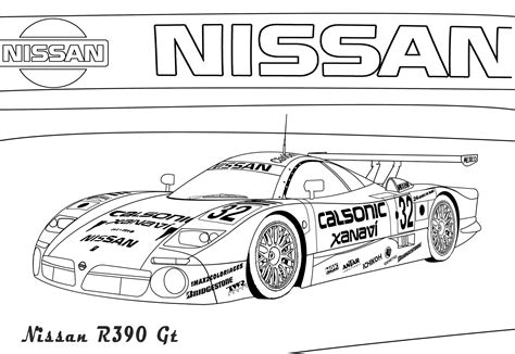 Free Coloring Pages Of Nissan Skyline R35 Printable Coloring Pages Gt Number