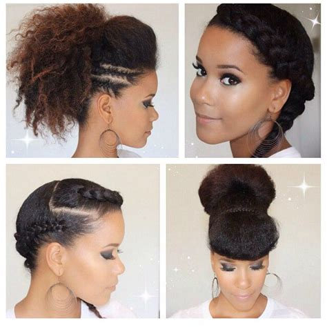 diy hairstyles for short natural african hair hair inspiration glam up your natural hair with these