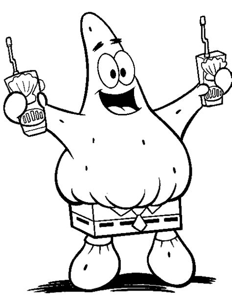 spongebob and patrick fighting coloring sheets coloring pages