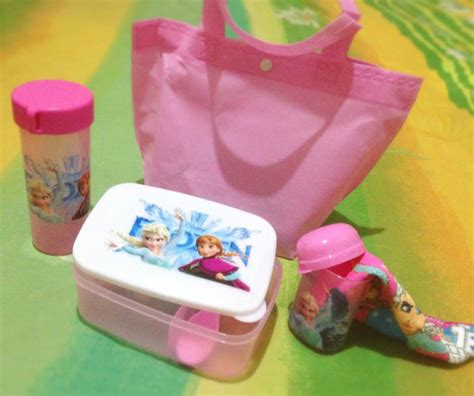 Lunch Box Set Botol Minum Disney Cars Rantang Kotak Makan Termos Air jual 1 set lunch pack disney frozen 1 set bekal frozen kotak makan lunch box botol minum