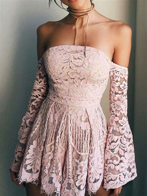 simple  cute   sweetheart long sleeve brush pink