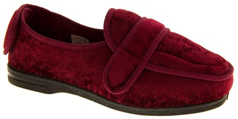 wide fitting slippers for the elderly luxury coolers adjustable orthopaedic