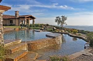 Sloped Backyard Retaining Wall Silver Award Winner Swimming Pool Mission Pools
