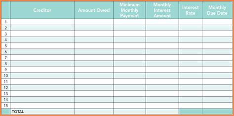 Debt Planner Spreadsheet by 9 Debt Planner Spreadsheet Excel Spreadsheets