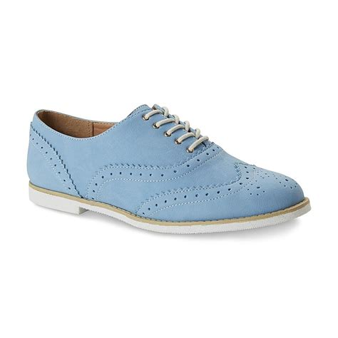 womens blue oxford shoes seventeen s sicily light blue wingtip oxford shoe
