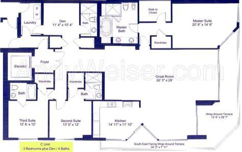 Sole Fort Lauderdale Floor Plans by Las Oals Beach Club In Fort Lauderdale Floorplans And Details