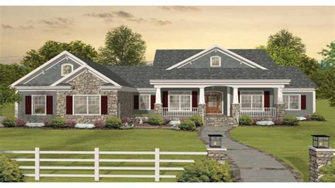 single story house elevation craftsman one story ranch house plans one story craftsman