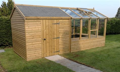 Shed With Greenhouse by Paint Colours For Garden Sheds Garden Sheds With
