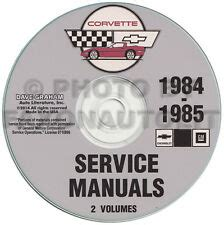 service repair manual free download 1985 chevrolet corvette lane departure warning 1985 corvette ebay
