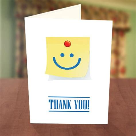 smiley card note template smiley stick note thank you card greetings world