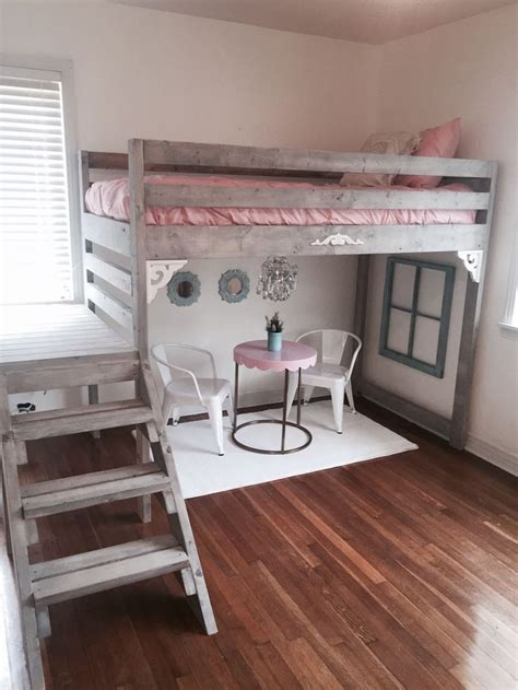 White Loft Bed by White Loft Bed I Made For My Daughters Room White