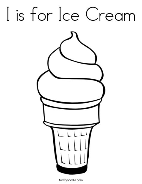 preschool ice cream coloring pages i is for ice cream coloring page twisty noodle