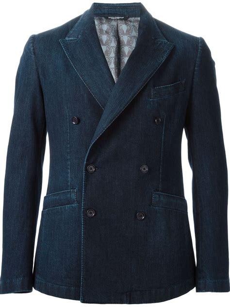 Dg Dolce Gabbana Denim Shopper by Dolce Gabbana Breasted Denim Jacket In Blue For