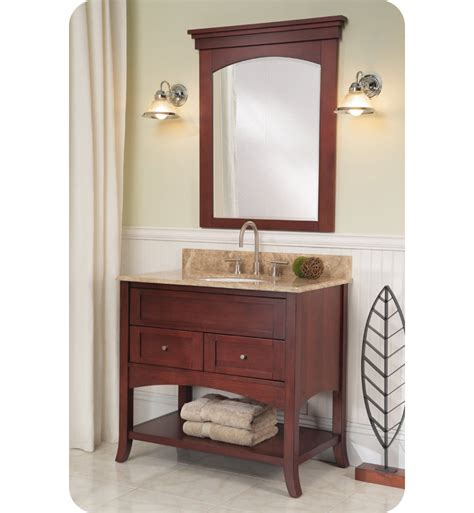 bathroom vanity open shelves fairmont designs 125 vh36 shaker 37 quot open shelf modern bathroom vanity in cherry
