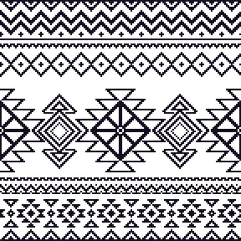 Pattern Aztec aztec pattern black and white vector free