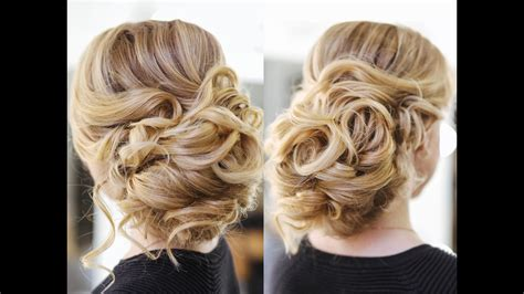 Bridal Updo Hairstyles Tutorials by Easy Wedding Updo With Curls Prom Hairstyles Hair Tutorial