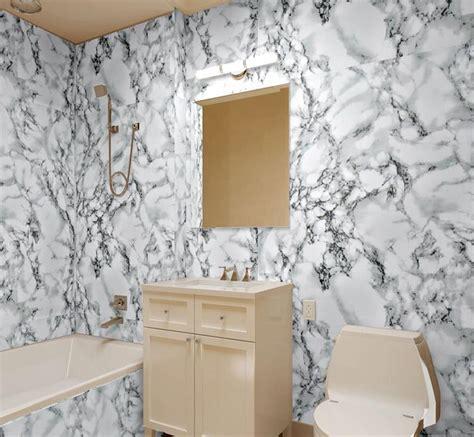 Wallpaper Pvc Marmer hoge kwaliteit steen behang 3d moderne pvc imitatie marmer waterdicht behang badkamer muur decor