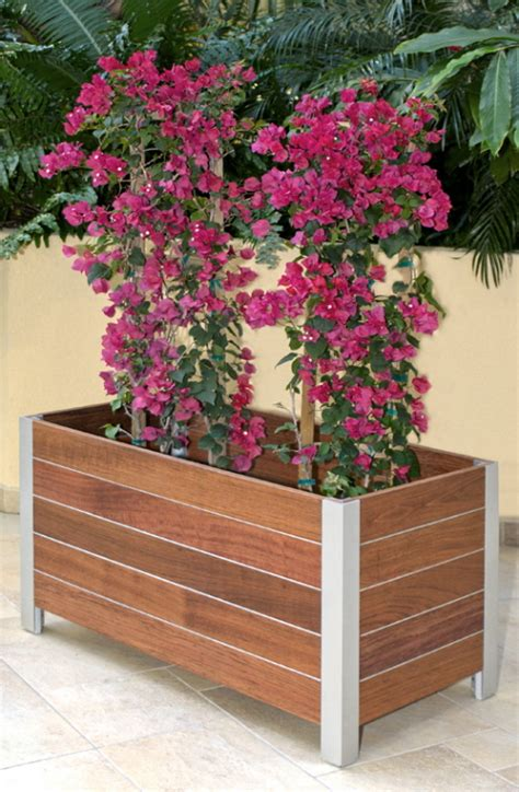 solid wood planter boxes  deep stream designs