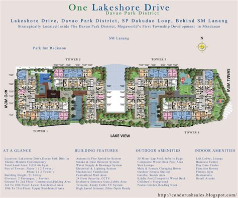 Executive Tower B Floor Plan One Lakeshore Drive Davao Park District