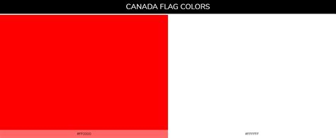 canada colors color schemes of all country flags 187 187 schemecolor