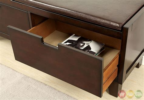 walnut storage bench hebron walnut storage benches with 2 large drawers