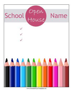 school open house template school open house flyer