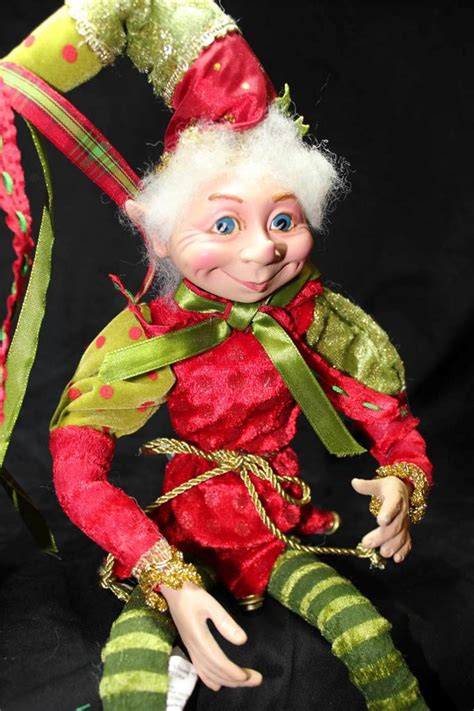 new santa elf christmas ornament doll shelf sitter