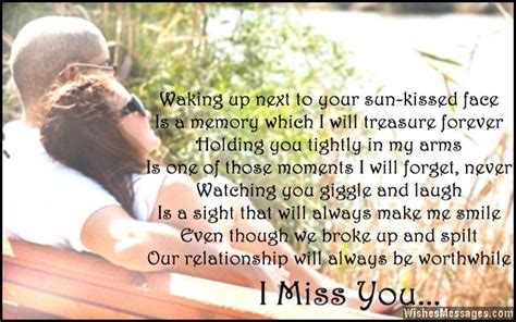 i miss you poems for ex girlfriend missing you poems for