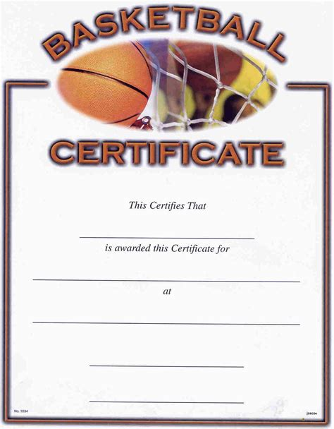 basketball certificate templates basketball award certificate to print activity shelter