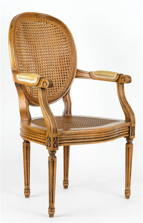 cane back armchair louis xvi armchair with cane back and seat for sale at 1stdibs