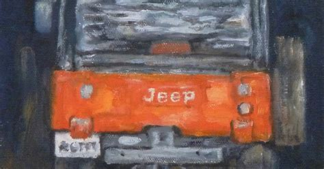 jeep painting canvas daily painting projects red jeep oil painting car art