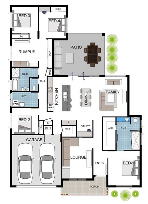 standard home plans fairmont 260sqm 4 bedroom house floor plan grady homes