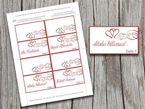 microsoft templates place cards diy swirls tent place cards microsoft word template