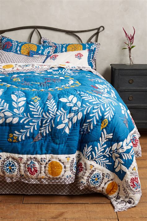 bedding like anthropologie beautiful embroidered quilt zocalo by anthropologie