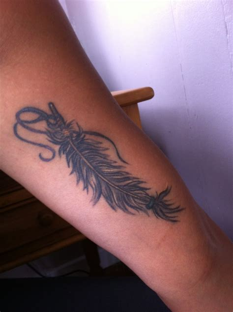 Feather Tattoo Inner Bicep | inner arm feather tattoo ink pinterest feathers