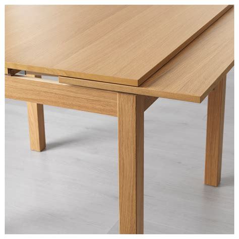 ikea pull out table bjursta extendable table oak veneer 90 129 168x90 cm ikea