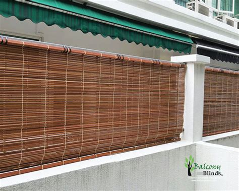 Outdoor Curtains For Balcony Outdoor Bamboo Blinds Singapore Balconyblinds