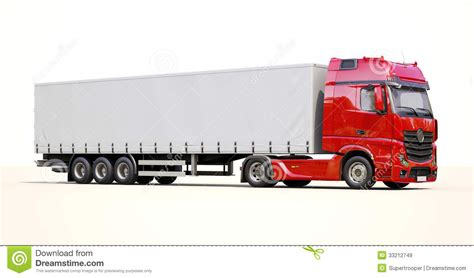 semi trailer truck semi trailer truck stock image image of carrier delivery