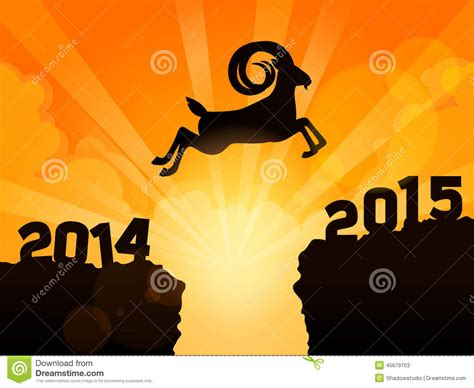 new year goat message happy new year 2015 year of goat a goat jumps from 2014
