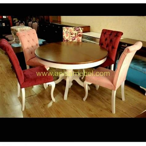 Home Line Rantang Makan Bulat 21l set meja makan bulat modern anisa mebel jepara pilihan furniture berkualitas