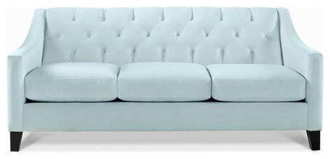 seafoam sofa chloe fabric velvet metro living sofa seafoam